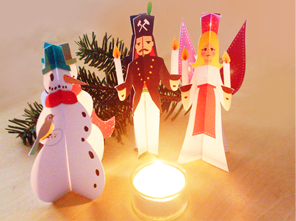 craft tip 3d christmas figures